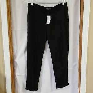 VINCE black twill pants NWT size 10